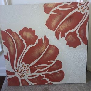 Other - Coral Flower Wall Art